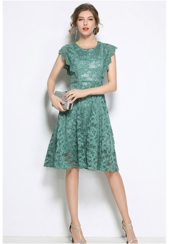 Sunnydaysweety green 2018 New Green Lace A-line Skirt A060805 D7E78AAC0B4EA2GS_1