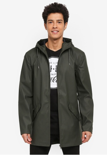 Only & Sons green Kristoff Raincoat AE881AA8059691GS_1