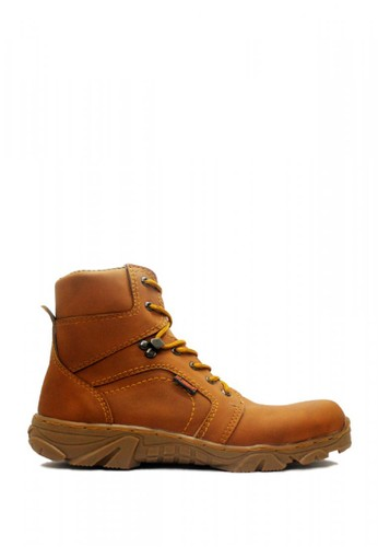 Cut Engineer brown Cut Engineer Safety Tactikal Fosil Boots Leather Brown 75A05SH2C15141GS_1