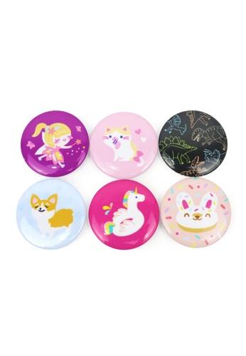 Ripples multi Kids Pin Badges Set A 79F70KC445D694GS_1