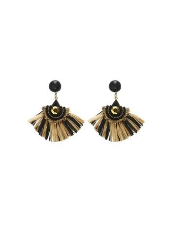 La Miina brown Magnar Statement Earrings CB09CAC75C0DCEGS_1