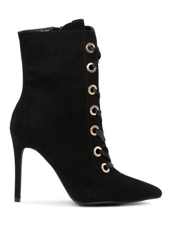 London Rag black Black Louise Laceup Bootie SH1711 FCB3DSH0E4E6D7GS_1