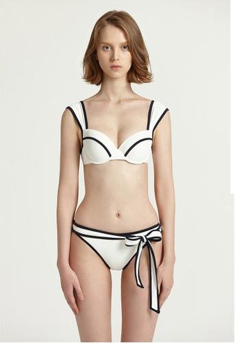 Halo white Colour Block Swimsuit Bikini A9FD5USFD31BCCGS_1