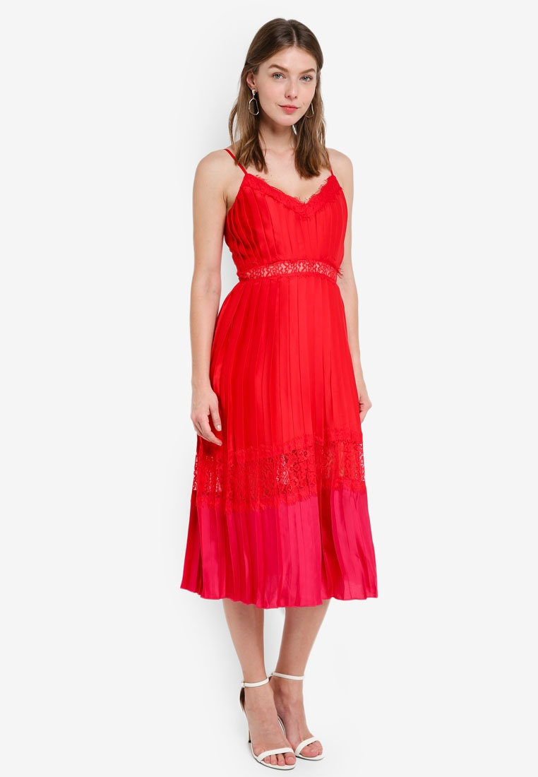 Pomegranite Mistress Cherry Cami Little Dress 8xFCt