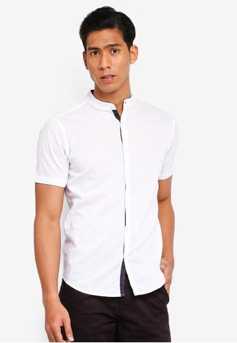 OVS 白色 Mandarin Collar Shirt 93A9FAAED15820GS_1