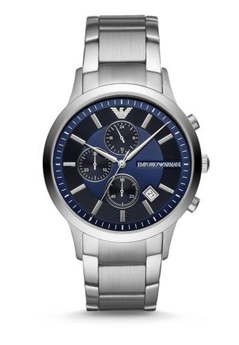 Emporio Armani silver Renato Chronograph Watch AR11164 0B5CDACD68BB8EGS_1