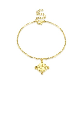 Glamorousky silver Fashion Simple Plated Gold Madonna Round Bracelet A937EACA86404DGS_1
