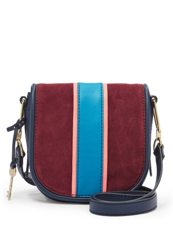 Fossil blue and navy Fossil Rumi Navy Blue Sling Bag ZB7393607 78B6FACE089121GS_1