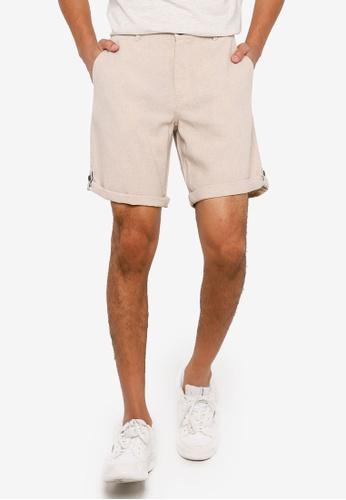 Springfield beige Linen Bermuda Shorts 355D2AAD849DACGS_1