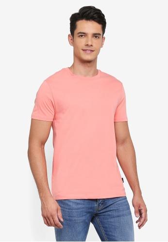Burton Menswear London 粉紅色 短袖圓領素色T恤 FF34CAA90578BFGS_1