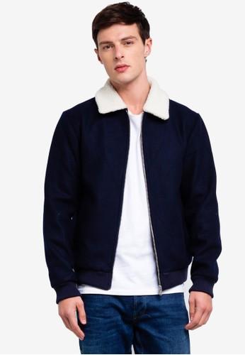 Jack & Jones navy Wool Blend Jacket D04F4AAB041503GS_1