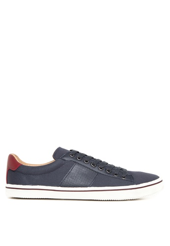 Topman navy Lace Up Sneakers TO100SH81JZMPH_1