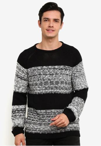 !Solid 黑色 Raoul 混色Block 針織Sweater 2437EAA31C9FC1GS_1