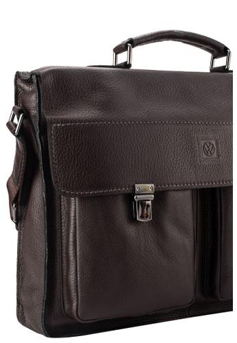 Volkswagen brown Volkswagen Genuine Leather Satchel Bag VO089AC37EIGMY_1