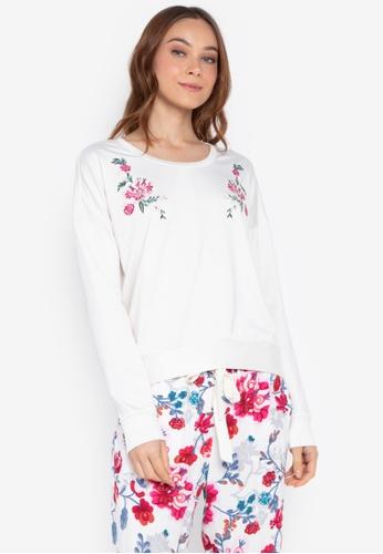 Josie white Otherwear Sweatshirt 1CACBAAB180A08GS_1