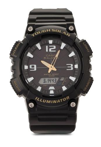 Casio black Casio Youth Analog Black Dial Men's Watch CA843AC00ADBMY_1