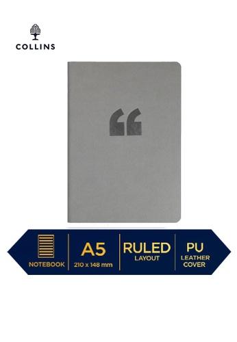 Collins grey Collins Edge Rainbow  ─  Notebook A5 Ruled Grey E55B4HL2EC7911GS_1