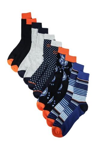 Jack & Jones black Blueis Socks 5 Pack D8D49AAE2C4670GS_1