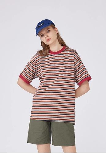 Twenty Eight Shoes Loose Contrast Stripe T-shirts HH9175 C9309AA47EECE4GS_1