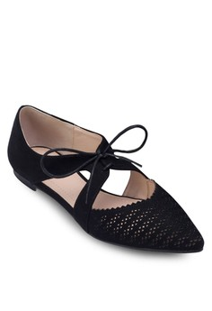 Perforated Cut-Out Ballerinas