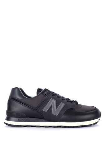 New Balance black 574 Classics Lifestyle Shoes E05B5SHE925197GS_1