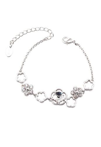 OUXI silver OUXI Plum Flower Bracelet OU821AC33TNAMY_1