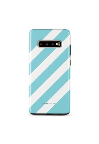 Polar Polar blue Baby Blue Slash Dual-Layer Tough Case Glossy For Samsung Galaxy S10 Plus 76AE7ACC9675D2GS_1