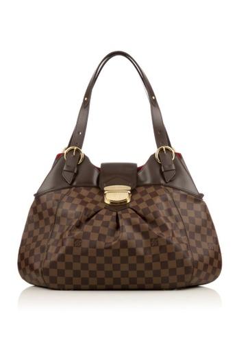 Louis Vuitton brown Preloved Brown Damier Sistina GM Bag 763D7AC34A2996GS_1