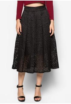 Premium Fluted Hem Skirt