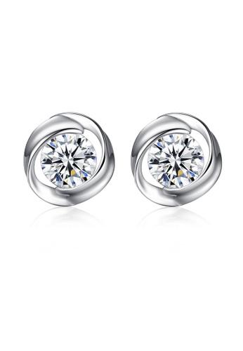 SUNRAIS silver High quality Silver S925 silver simple design earrings 8C922ACE16232BGS_1