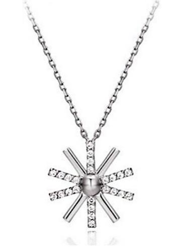 YOUNIQ silver YOUNIQ-Basic Korean Silver CZ Sun Necklace YO999AC77TJEMY_1
