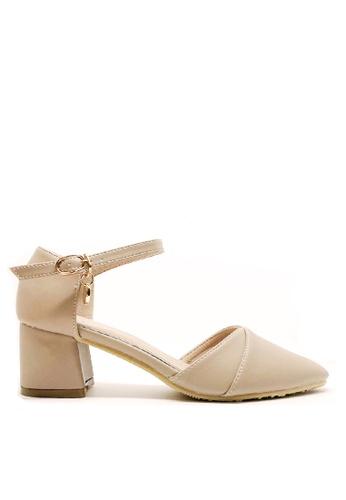 Twenty Eight Shoes 米褐色 優雅尖頭中踭鞋546-1C 9AFECSH5B17BE4GS_1