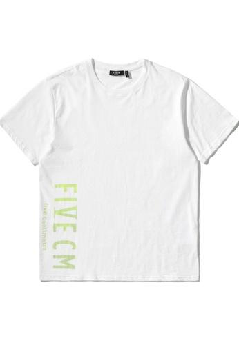 Fivecm white Logo print tee F78A1AABDC9174GS_1
