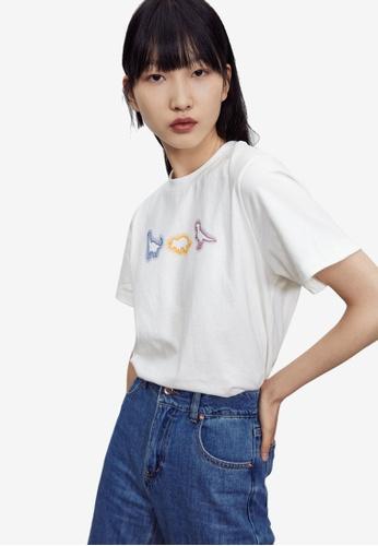 URBAN REVIVO white Graphic T-Shirt 859BEAA069DA9EGS_1