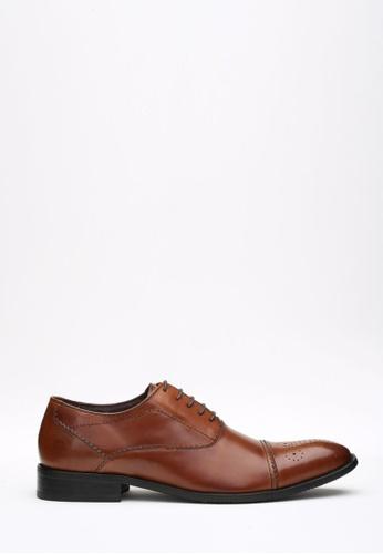 Kings Collection brown Lenox Oxford Shoes KI358SH64DFNSG_1