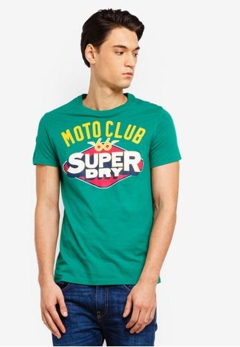 Superdry 綠色 短袖印花T恤 03E79AA603DB23GS_1