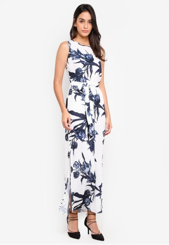 Dorothy Perkins white Linear Floral Maxi Dress 31D02AAFD13091GS_1