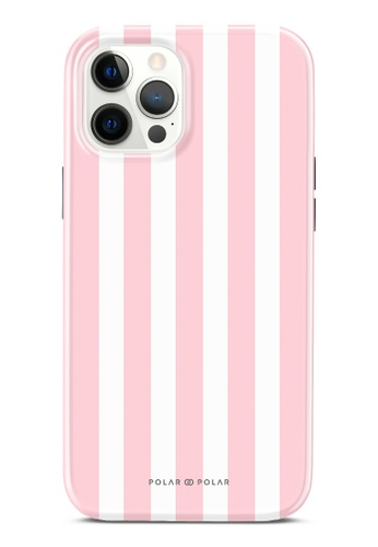 Polar Polar pink Baby Pink Stripe Dual-Layer Tough Case Glossy For iPhone 12 Pro Max 59833AC3DC522FGS_1