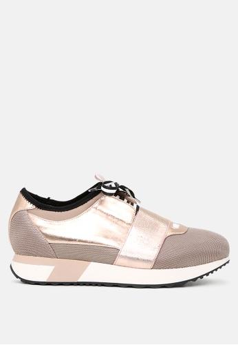London Rag 金色 玫瑰金Low-Top系带活跃运动鞋 SH1707 D5764SHACE699CGS_1