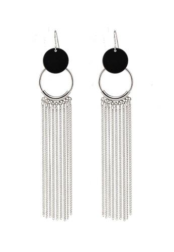 Pieces silver Lissa Tassel Earrings 16F79AC439E617GS_1