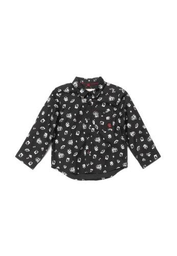 PONEY black Poney Toddler Darren Magic Icon Long Sleeve Shirt 6C91CKA871C0A1GS_1