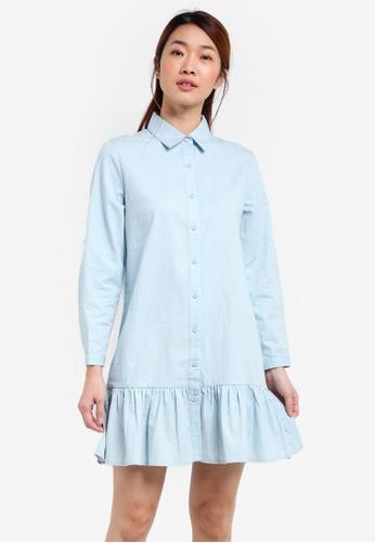 Something Borrowed blue Drop Waist Shirt Dress C3952AAF9320C4GS_1
