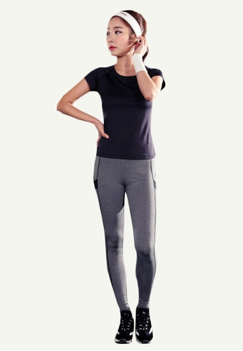 B-Code grey ZYG5001-Lady Quick Drying Running Fitness Yoga Sports Leggings-Grey 66DD4AA5122427GS_1