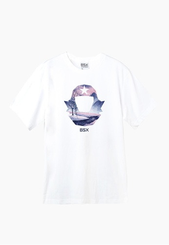 BSX white BSX Unisex's regular fit printed logo tee (Online exclusive) (0409029851) A45EBAAA1B3143GS_1