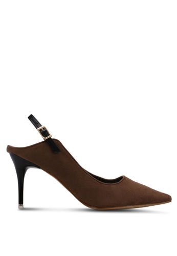 Something Borrowed brown Slingback Heels 88861SH27631B6GS_1