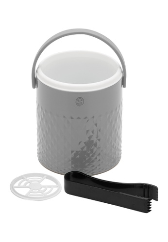 Slique grey Premium Insulated Ce Bucket With Tong 1600ml A1213HL295391CGS_1