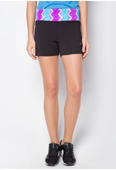 Hotpants with Print Waistband