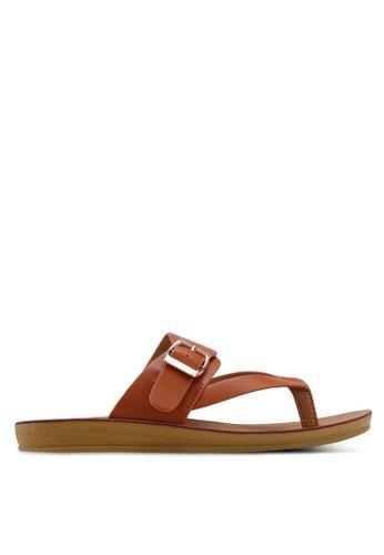 Noveni 褐色 繞帶夾腳涼鞋 004FCSH9273E20GS_1