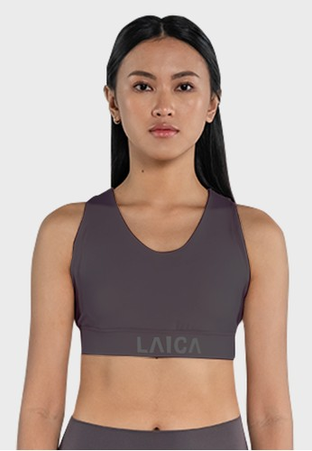 Laica grey Laica Lux Cross Back Sports Bra E06B7AAC0F2B76GS_1