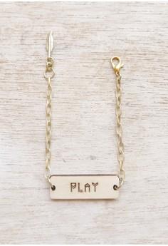 Soul Flower Wooden Bracelet Tag - Play
